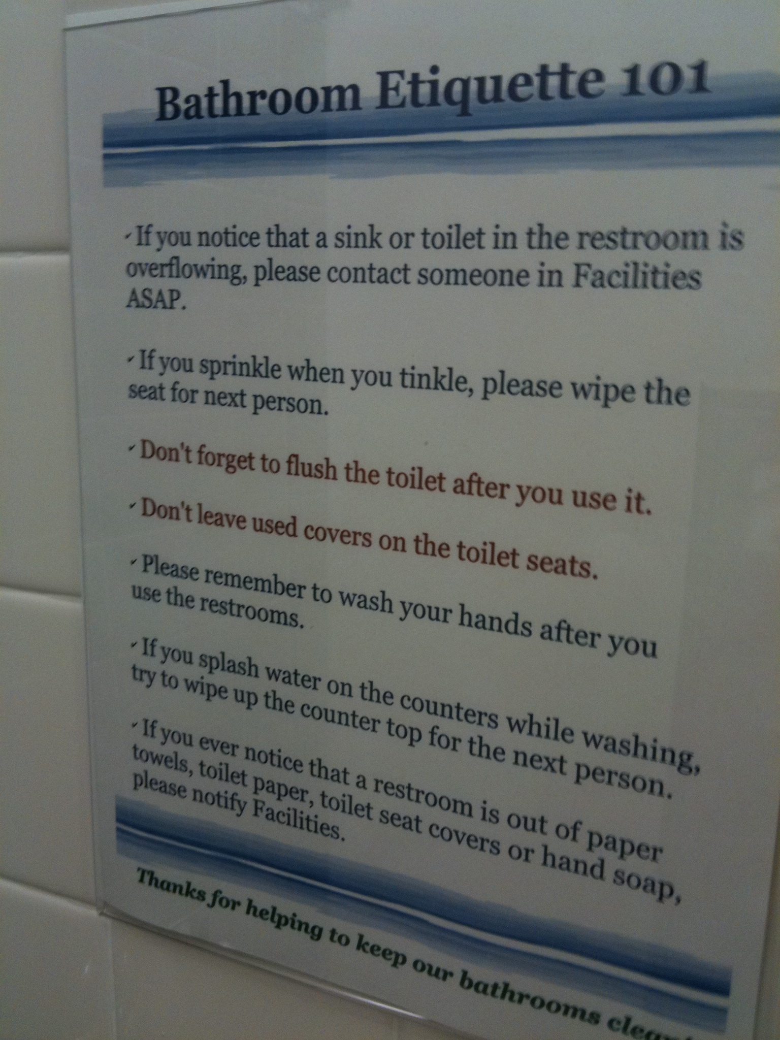 Bathroom Etiquette In The Workplace Images Crazy Gallery