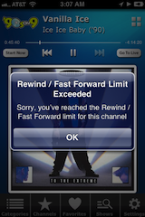 Rewind / Fast Forward Limit Exceeded