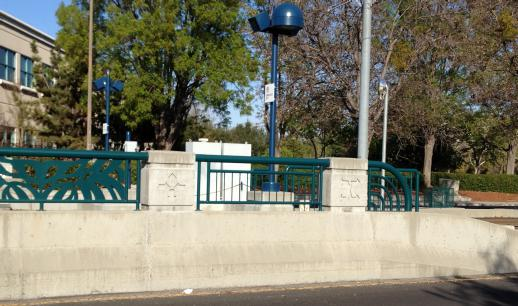 Symbols at VTA light rail station